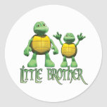 Cool Turtles Little Brother Stickers