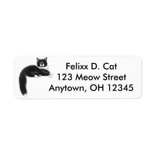 Cool Tuxedo Cat Avery Label Return Address Label