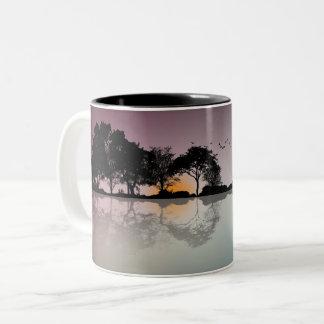 Cool Twilight Horizon Guitar Reflection Coffee Mug