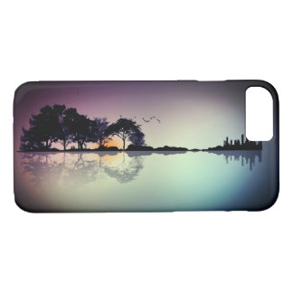 Cool Twilight Horizon Guitar Reflection Phone Case