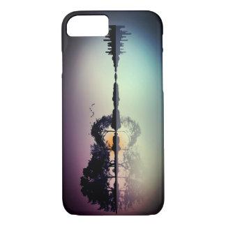 Cool Twilight Horizon Guitar Reflection Phone Case