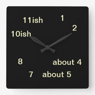 Cool Uber Geek Hipster Black One-ish Clock 3