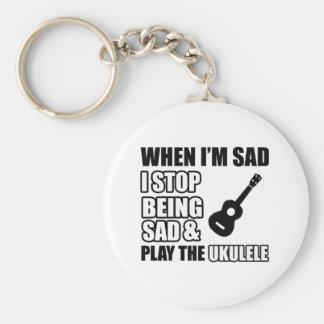 Cool Ukulele designs Key Ring
