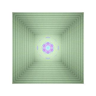 Cool Uncommon 3D Green Lavender Optical Illusion Canvas Print