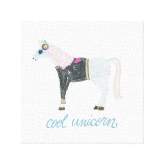 Cool Unicorn Canvas Print