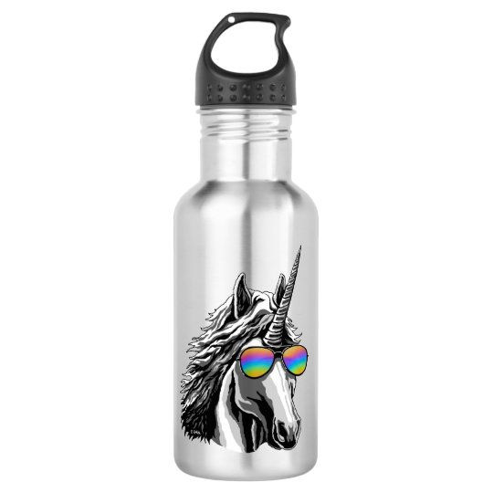 Cool unicorn with rainbow sunglass 532 ml water