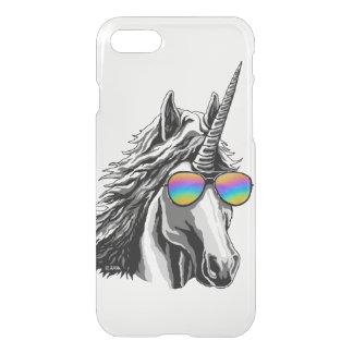 Cool unicorn with rainbow sunglass iPhone 8/7 case