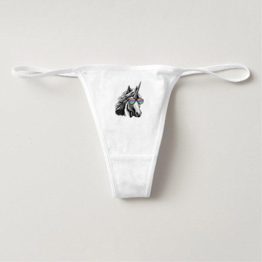 Cool unicorn with rainbow sunglasses underwear