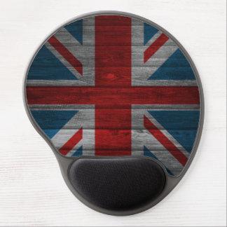 Cool union jack flag gadrk grunge wood effects gel mouse pad