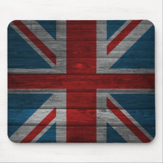 Cool union jack flag gadrk grunge wood effects mouse pad