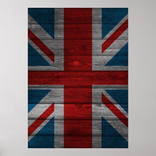 Cool union jack flag gadrk grunge wood effects