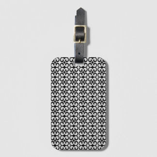 Cool Unique Black and White Pattern Luggage Tag