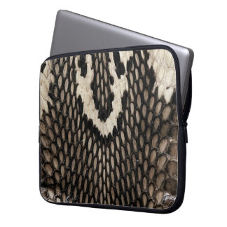 Cool Unique Cobra Snake Skin Print Design Laptop Sleeve