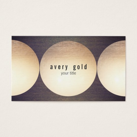 Cool Unique Faux Gold Foil Circle Wood Modern