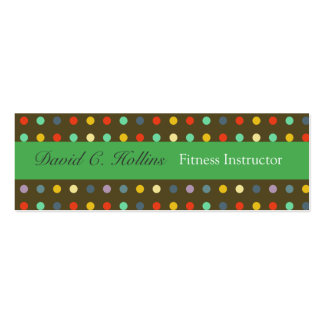 Cool Unisex Colorful Retro Dotted Business Cards