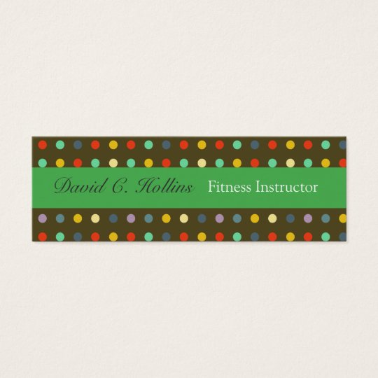 Cool Unisex Colourful Retro Dotted Mini Business Card