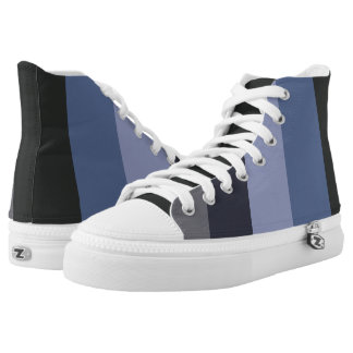Cool urban blue & gray design printed shoes