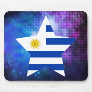 Cool Uruguay Flag Star Mouse Pad