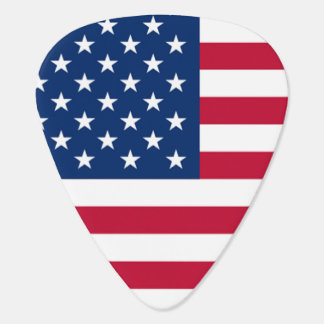 Cool USA American Flag Stars and Stripes Plectrum