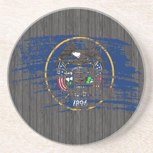 Cool Utahan flag design Beverage Coaster