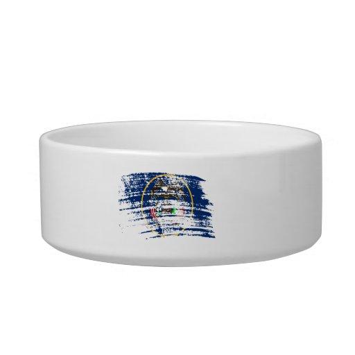 Cool Utahan flag design Cat Food Bowl