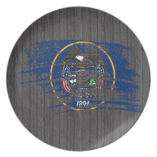 Cool Utahan flag design Dinner Plates