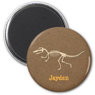 Cool Velociraptor Dinosaur Bones For Boys 6 Cm Round Magnet
