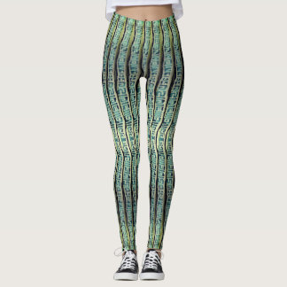 Cool Vertical Patterned Stripes Leggings