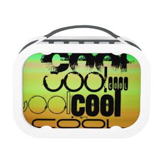 Cool; Vibrant Green, Orange, & Yellow Lunch Boxes