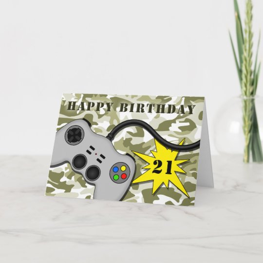 Cool Video Game Controller 21st Birthday Card