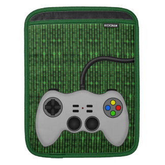 Cool Video Game Controller Vector in Grey iPad Sleeve