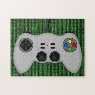 Cool Video Game Controller Vector in Grey Jigsaw Puzzle