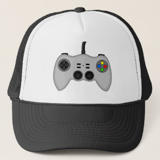 Cool Video Game Controller Vector in Grey Trucker Hat