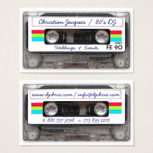 Vintage business cards business card printing zazzle uk cool vintage 80s retro music cassette tape funny business card reheart Image collections