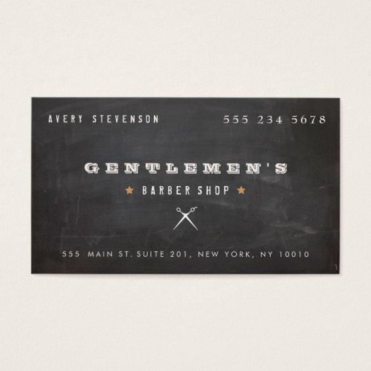 Cool Vintage Barber Shop Scissors Business Card