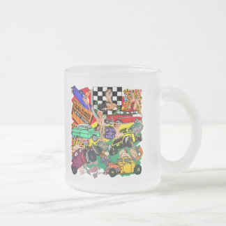 Cool Vintage Cars Frosted Glass Mug