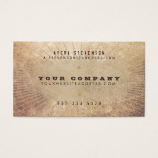 Cool Vintage Country Western Sunburst Business Card