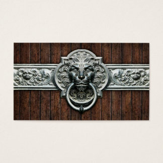 Cool Vintage Doorknocker #1A Personalizable Business Card