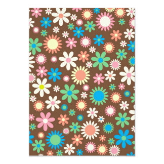 cool vintage floral colourful pattern card