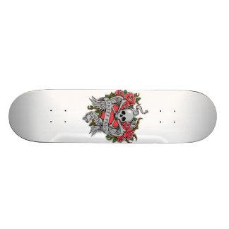 Cool  Vintage flowery skull with wings Tattoo 21.6 Cm Skateboard Deck