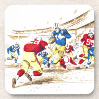 Cool Vintage Football Game Players Photo Image Drink Coasters