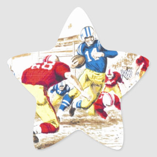 Cool Vintage Football Game Players Photo Image Star Sticker