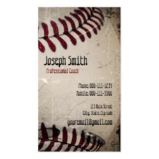 Cool Vintage Grunge Baseball Pack Of Standard Business Cards