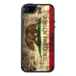 Cool Vintage Grunge Flag of California Flag OtterBox iPhone 5/5s/SE Case