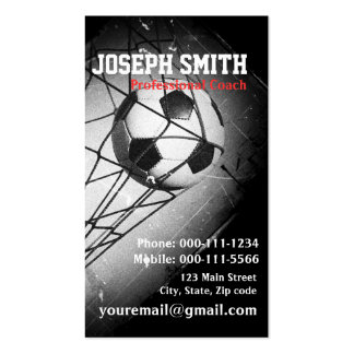 Cool Vintage Grunge Football in Goal Business Card Template