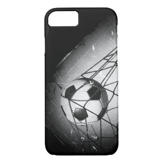 Cool Vintage Grunge Football in Goal iPhone 7 Case