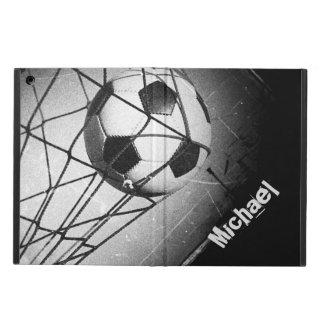 Cool Vintage Grunge Football in Goal Personalized iPad Air Cover