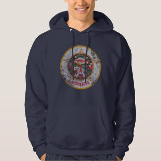 Cool Vintage Grunge State Flag of Minnesota Hoodie