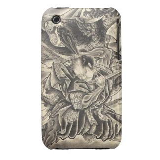 Cool vintage japanese demon samurai fight tattoo Case-Mate iPhone 3 case