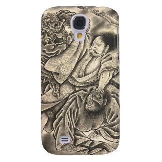 Cool vintage japanese samurai demon fight tattoo galaxy s4 case